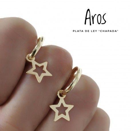 33664 Aro chapado estrella calada