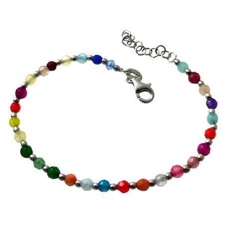 33761 Pulsera rodiada piedras color