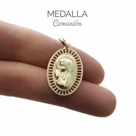 34023 Medalla Virgen Niña chapada