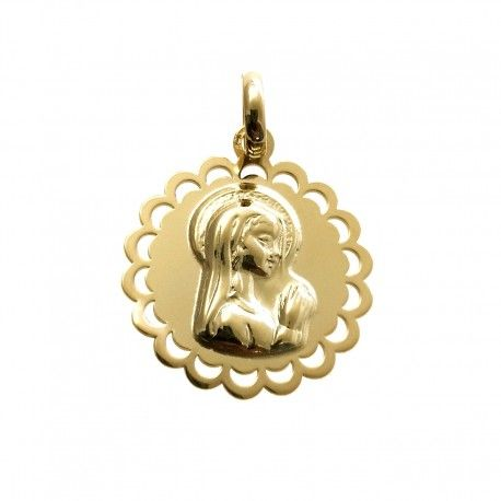 34024.2 Medalla Virgen Niña chapada