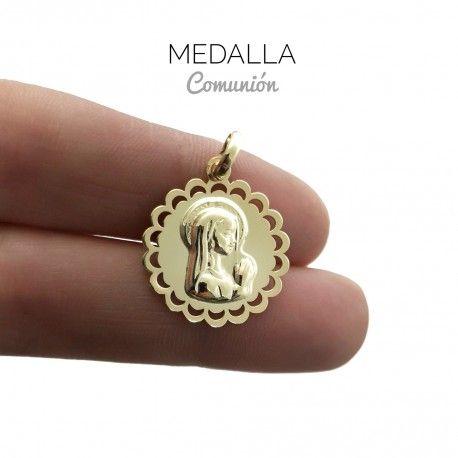 34024 Medalla Virgen Niña chapada