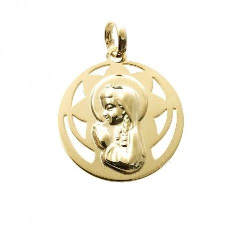 34025.2 Medalla Virgen Niña chapada