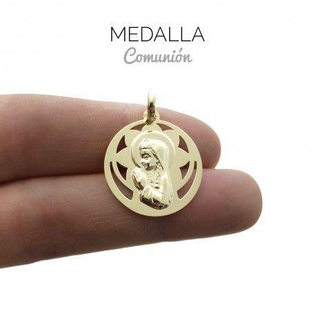 34025 Medalla Virgen Niña chapada
