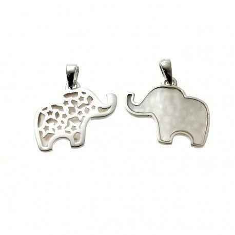 31507.2 Colgante elefante nacar