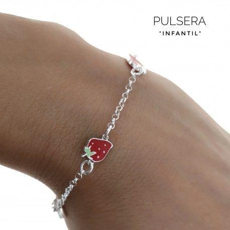 33889 Pulsera infantil fresas