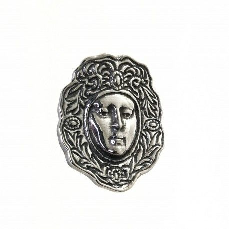 33953.2 Colgante rostro Virgen del Rocío oxidado
