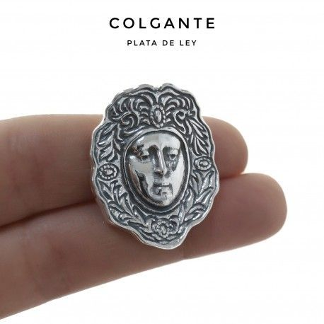 33953 Colgante rostro Virgen del Rocío oxidado