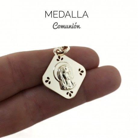 34053 Medalla Virgen niña chapada