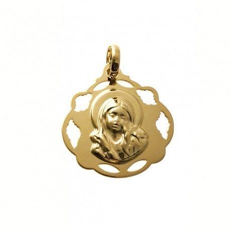 34054.2 Medalla Virgen niña chapada