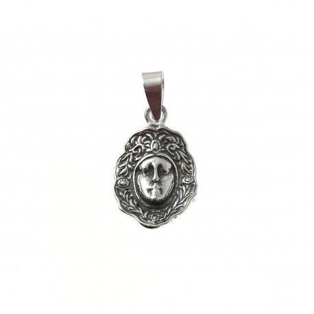 33954 Colgante rostro Virgen del Rocío oxidado