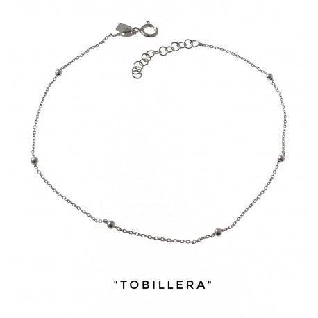 34042 Tobillera cadena combinada bolas