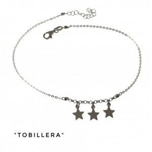 34201-300x300 Tobillera rodiada estrellas colgando