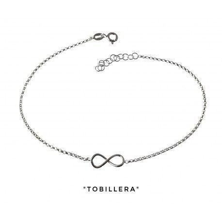 34203 Tobillera cadena rolo infinito