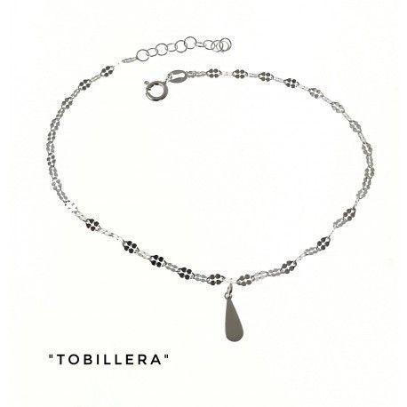 34211 Tobillera cadena lumina lágrima colgando