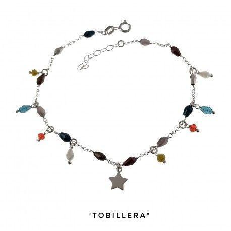 34217 Tobillera piedra color estrella