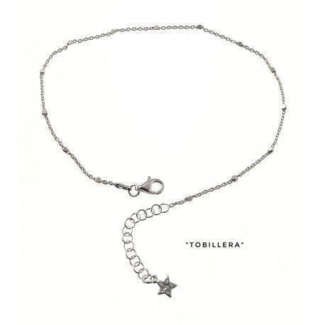 34224 Tobillera cadena combinada estrella circonita