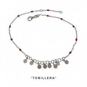 34231-300x300 Tobillera rodiada piedras color coral discos