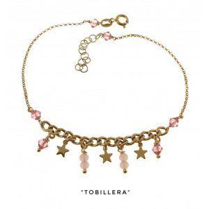 34242-300x300 Tobillera chapada piedras rosas estrellas
