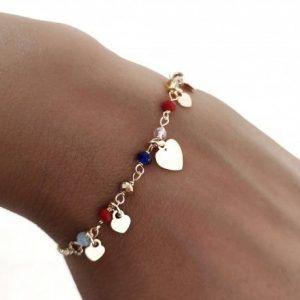 34139-300x300 Pulsera chapada piedra color corazones
