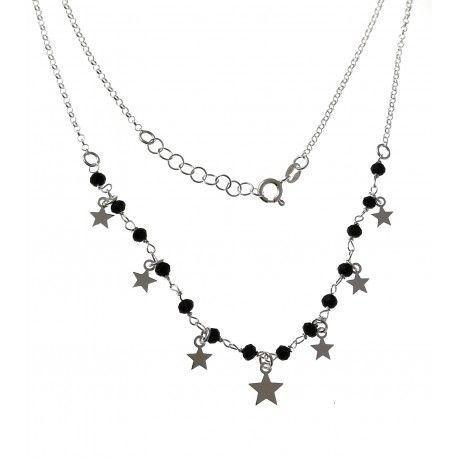 34146 Gargantilla piedra negra estrellas