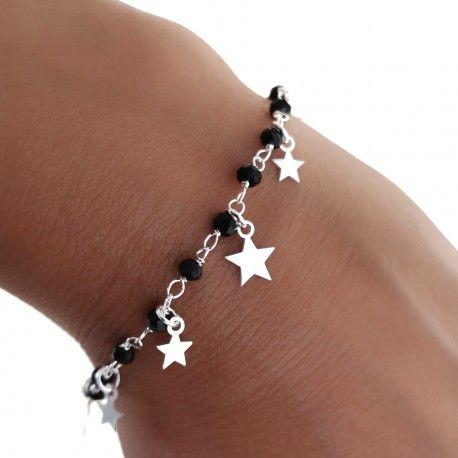 34148 Pulsera piedra negra estrellas