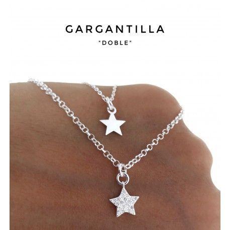 34152 Gargantilla doble cadena estrellas