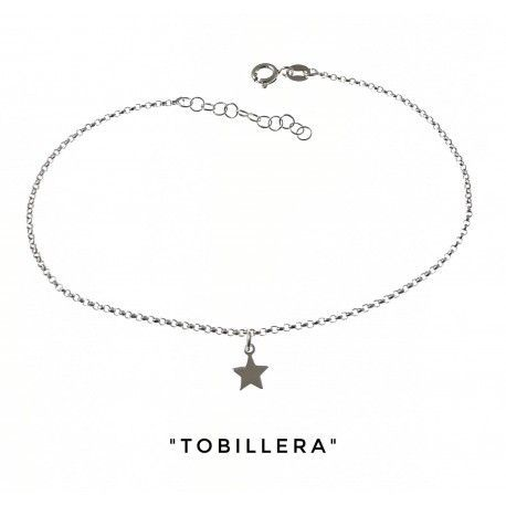34258 Tobillera cadena rolo estrella
