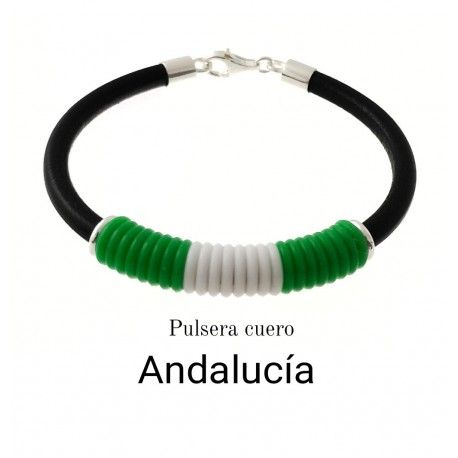 34294 Pulsera cuero Andalucía