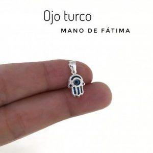34337-300x300 Colgante mini mano de Fátima ojo turco