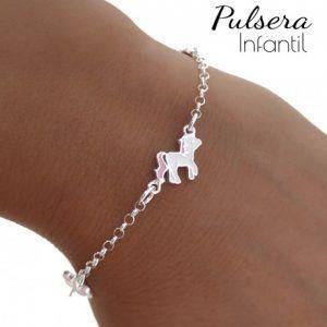 33888-300x300 Pulsera infantil unicornio y flores