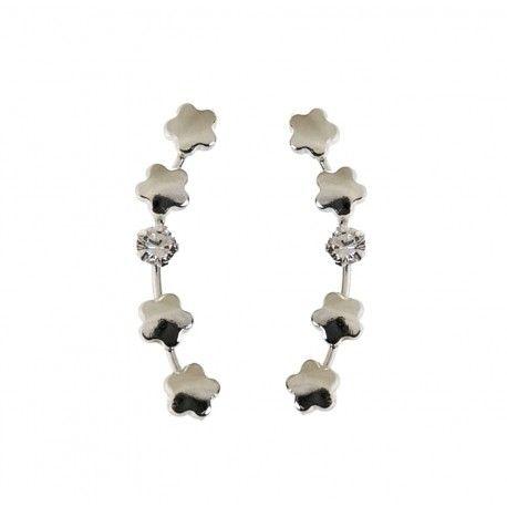 34396.3 Pendiente trepador circonita flor