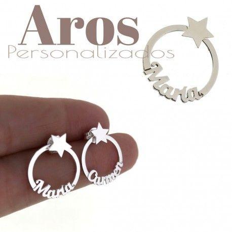 34440 Aros estrella personalizados (par)