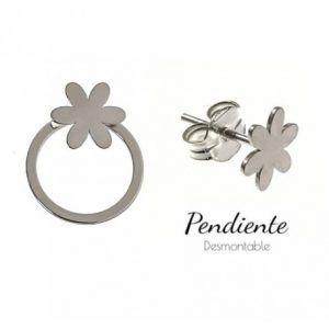 34468-300x300 Pendiente aro desmontable flor