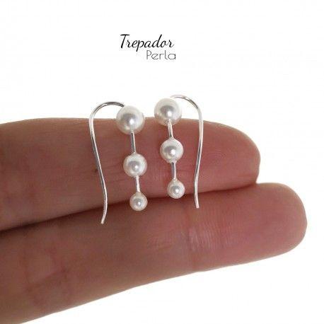 34554 Pendiente trepador perla