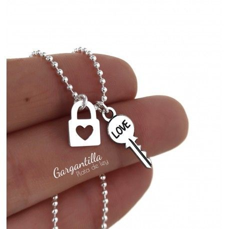 34631 Gargantilla candado llave