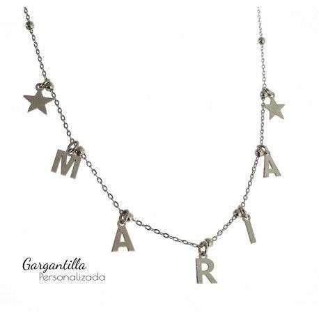 34544 Gargantilla personalizada cadena bolitas