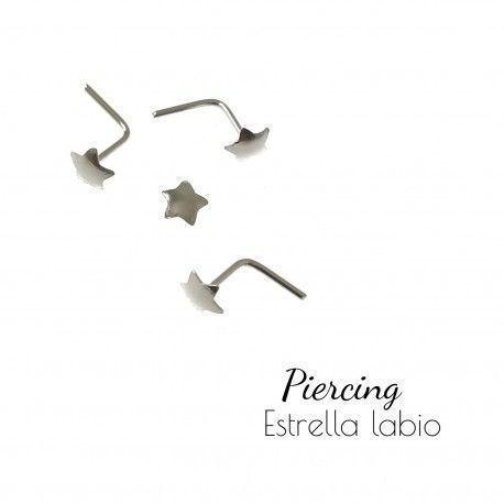34562 Piercing estrella labio
