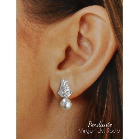 34594 Pendiente Virgen del Rocío perla