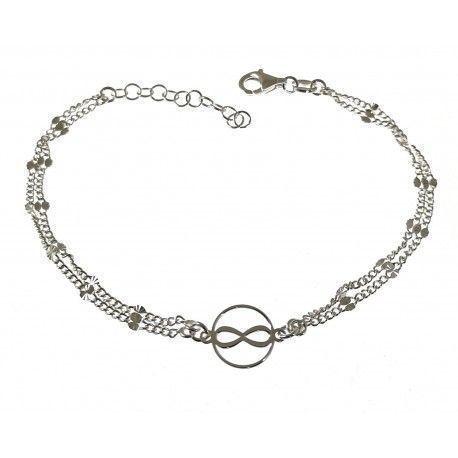 34678.2 Pulsera infinito doble cadena