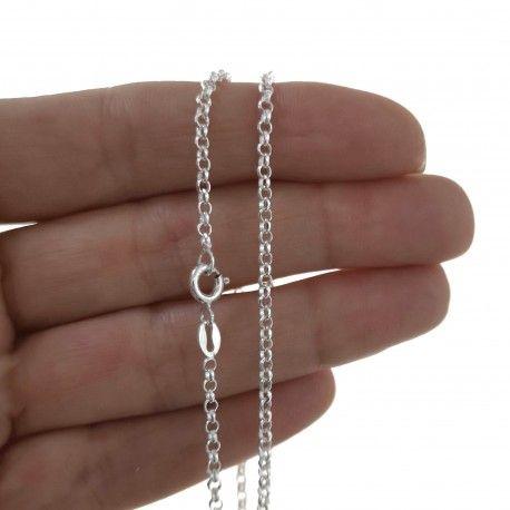 25837.2 Cadena 45 cm rolo diamantada