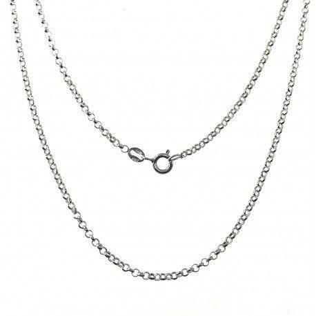 25837 Cadena 45 cm rolo diamantada