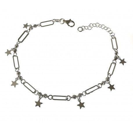 34703.2 Pulsera asas estrellas bolas talladas