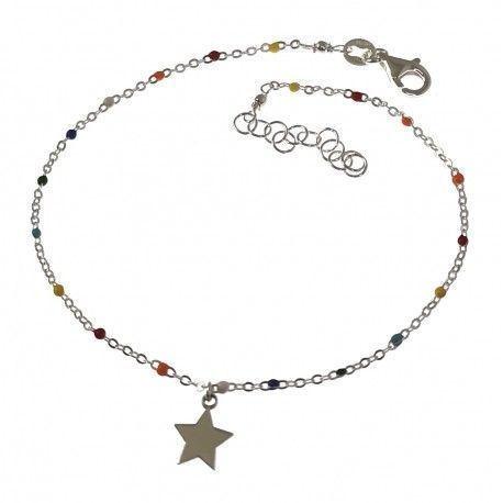34822.2 Tobillera estrella piedra color