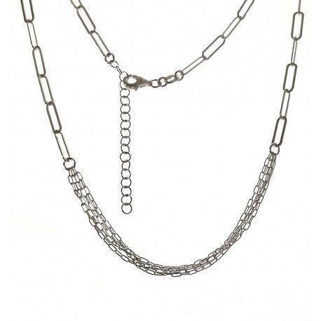 34831 Gargantilla cadena forzada con varias cadenas