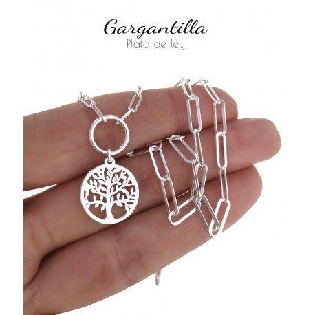 34832.2 Gargantilla cadena forzada árbol de la vida