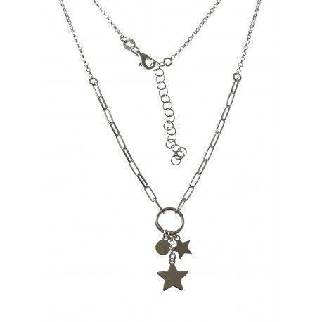 34855 Gargantilla cadena forzada estrellas y disco
