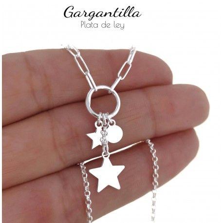 5.2 Gargantilla cadena forzada estrellas y disco