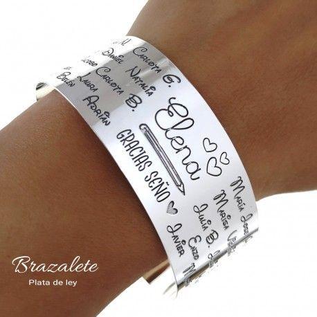 "34927 Brazalete personalizado ""gracias seño"""
