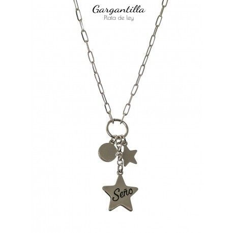 34972.3 Gargantilla seño disco estrellas